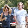 Goldie Hawn et Kurt Russell cherchent un nouveau terrain pour une maison à Brentwood, le 30 août 2013.