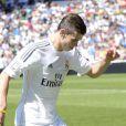 La nouvelle recrue du Real Madrid, le Gallois de Tottenham, Gareth Bale, lors de sa présentation dans son nouveau club au stade Santiago Bernabeu à Madrid le 2 septembre 2013.