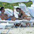 Lorenzo Lamas et sa femme Shawna Craig à Miami Beach le 2 septembre 2013.