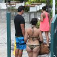 Exclusif - Lorenzo Lamas et sa femme Shawna Craig à Miami Beach le 2 septembre 2013.