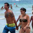 Exclusif - L'acteur Lorenzo Lamas et son épouse Shawna Craig à Miami Beach le 2 septembre 2013.
