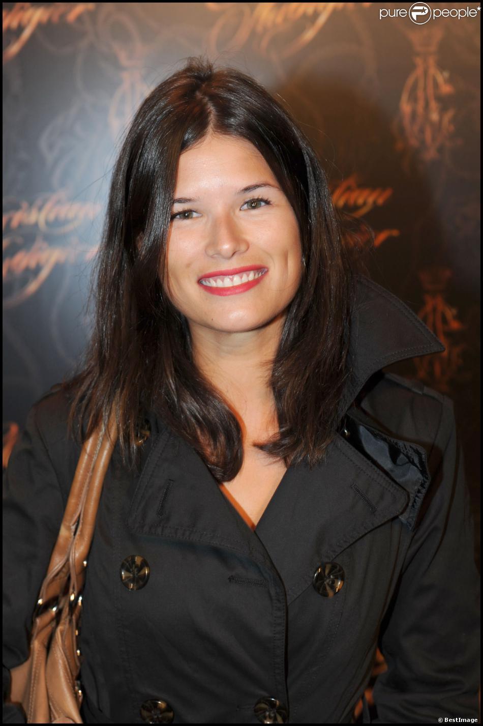 Flavie Péan - Soirée pour l'inuguration du show room de Christian Audigier à Paris le 3 septembre 2009.