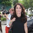 """Exclusif - Robin Tunney est venue presenter """"Mentalist saison 5"""" auprès de ses fans Français dans les locaux de TF1 avec Nikos Aliagas, le 17 juin 2013."""