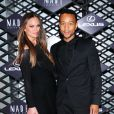 Chrissy Teigen et John Legend assistent à la soirée Lexus Design Disrupted au SIR Stage 37. New York, le 5 septembre 2013.
