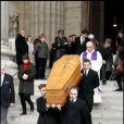 Obsèques de Bernard Mazières en l'église Saint-Sulpice à Paris, le 14 janvier 2011.