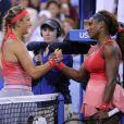 Serena Williams et Victoria Azarenka lors de la finale de l'US Open à Flushing Meadows le 8 septembre 2013