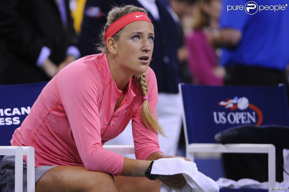 Victoria Azarenka émue aux larmes après sa défaite face à Serena Williams en finale de l'US Open, le 8 septembre 2013 à Flushing Meadows