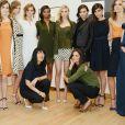 """""""Jeanne Yang et Katie Holmes présentent la collection printemps-été 2014 de Holmes & Yang. New York, le 9 septembre 2013."""""""