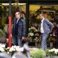 """Exclusif - Pascal Légitimus et Bernard Campan lors du tournage du deuxième opus """"Les Trois Frères : Le Retour"""" le 30 mai 2013 à Paris"""