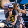 Christian Audigier et Nathalie Sorensen profitent de Los Angeles, le 26 août 2013 - Exclusif