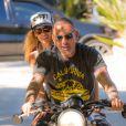 Christian Audigier et la jolie Nathalie Sorensen profitent de Los Angeles, le 26 août 2013 - Exclusif