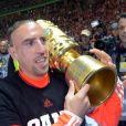 Franck Ribéry après sa victoire en finale de la coupe d'Allemagne gagnée face à Stuttgart le 1er juin 2013 au stade olympique de Berlin