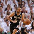 Tony Parker lors des finales NBA face au Heat de Miami le 9 juin 2013 à Miami