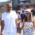 Tony Parker et sa fiancée Axelle à Saint-Tropez, le 20 aout 2013