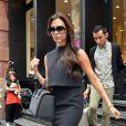 Victoria Beckham quitte la boutique J. Crew à New York, le 12 septembre 2013.