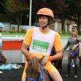 Gonzague paré pour la course Le Triomphe des Stars, organisée par le PMU et son opération Serial Parieurs, le 12 septembre 2013 à Paris