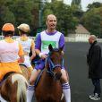 Catman paré pour la course Le Triomphe des Stars, organisée par le PMU et son opération Serial Parieurs, le 12 septembre 2013 à Paris