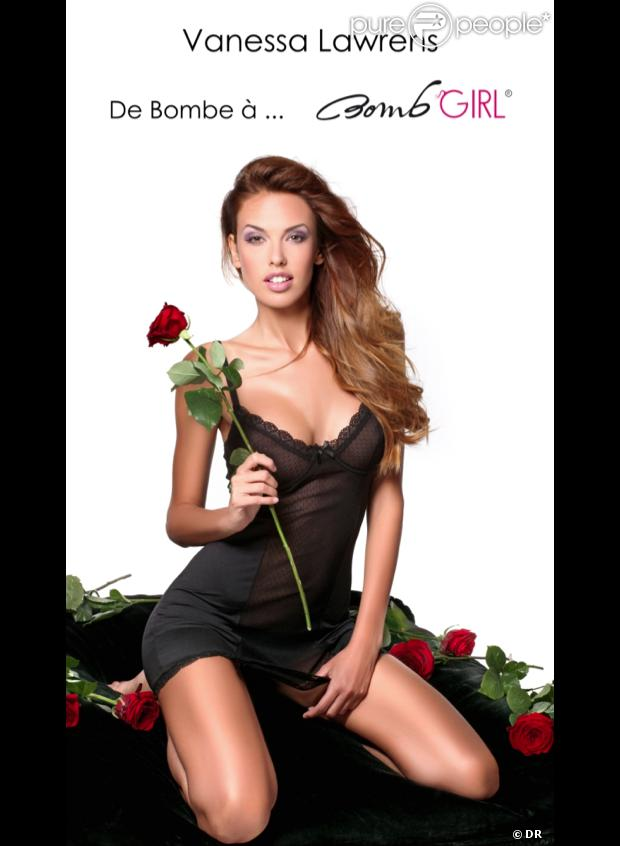 Vanessa Lawrens pose pour la dernière collection Bomb Girl.
