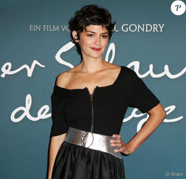 Audrey Tautou lors de la première du film L'écume des jours à Berlin, le 17 septembre 2013.