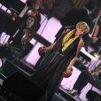 Patricia Kaas au concert des Francofolies hommage à Edith Piaf, au Beacon Theatre à New York, le 19 septembre 2013.