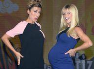 Michelle Hunziker, enceinte : Rentrée bien arrondie au côté de deux beaux mâles