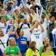 Les supporters Bleus lors de la finale de l'Eurobasket remportée par la France face à la Lituanie (80-66), à Ljubjana, le 22 septembre 2013