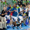 Les Bleus lors de la finale de l'Eurobasket remportée par la France face à la Lituanie (80-66), à Ljubjana, le 22 septembre 2013