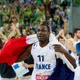 Florent Piétrus après la finale de l'Eurobasket remportée par la France face à la Lituanie (80-66), à Ljubjana, le 22 septembre 2013