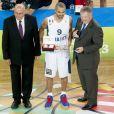 Tony Parker sacré MVP de la finale de l'Eurobasket remportée par la France face à la Lituanie (80-66), à Ljubjana, le 22 septembre 2013