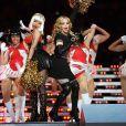 Madonna et Nicki Minaj lors de la mi-temps du Superbowl XLVI à Indianapolis, le 5 février 2012