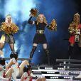 Madonna, Nicki Minaj et M.I.A. lors de la mi-temps du Superbowl XLVI à Indianapolis, le 5 février 2012