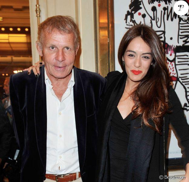 Patrick Poivre d'Arvor et Sofia Essaidi au 28e Gala de l'Aide à l'Enfant Réfugié, à la salle Gaveau, à Paris, le 23 septembre 2013.