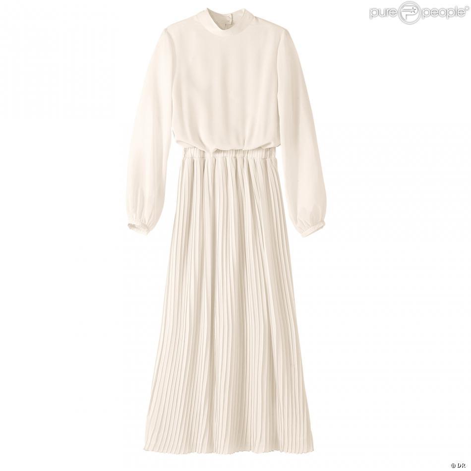28ea834900b1a1 Coup de coeur mode : La robe longue plissée 3 Suisses - Purepeople