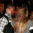 Exclusif - Cheryl Cole sort d'un dîner avec son compagnon Tre Holloway et quelques amis à Londres le 28 septembre 2013.