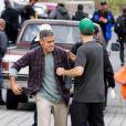 George Clooney sur le tournage de Tomorrowland à Vancouver le 16 septembre 2013