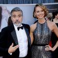George Clooney et Stacy Keibler lors de la cérémonie des Oscars le 24 février 2013
