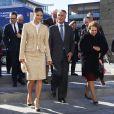 La princesse Victoria de Suède escortait à Malmö le président portugais Cavaco Silva et son épouse le 3 octobre 2013 au dernier jour de leur visite officielle.
