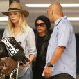 Exclusif - Nicole Richie arrive à l'aéroport de Los Angeles en provenance de Cabo San Lucas. Le 23 septembre 2013.