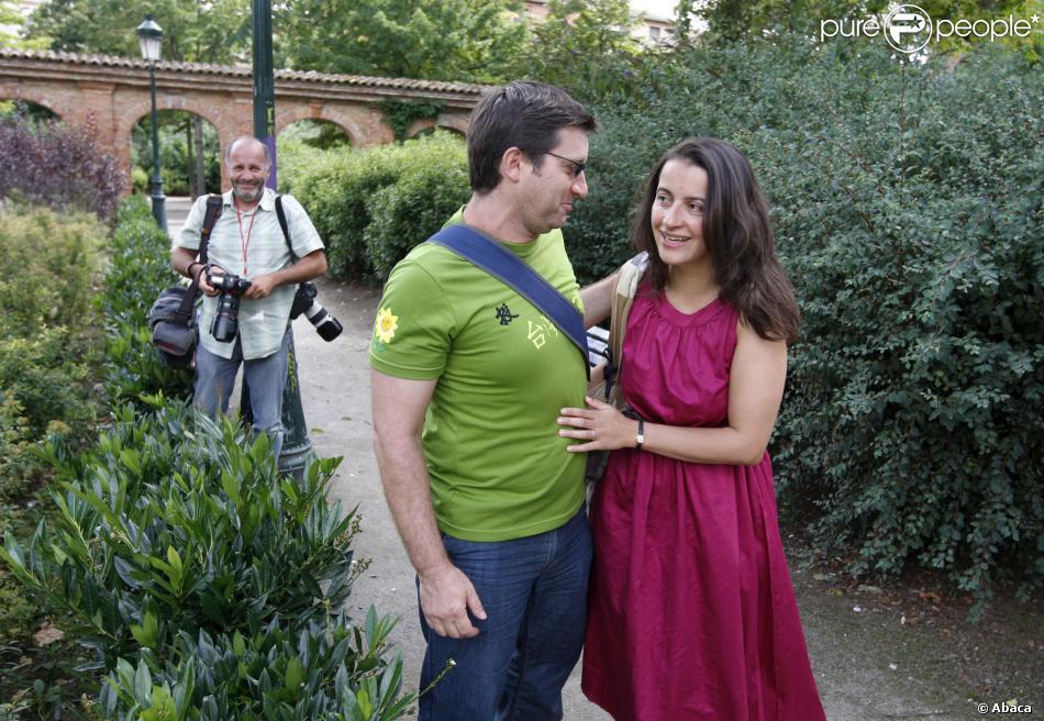 Cécile Duflot et Xavier Cantat à Toulouse, le 23 août 2008.