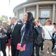 Gabrielle Union arrive au Conseil Économique Social et Environnemental pour assister au défilé Miu Miu. Paris, le 2 octobre 2013.