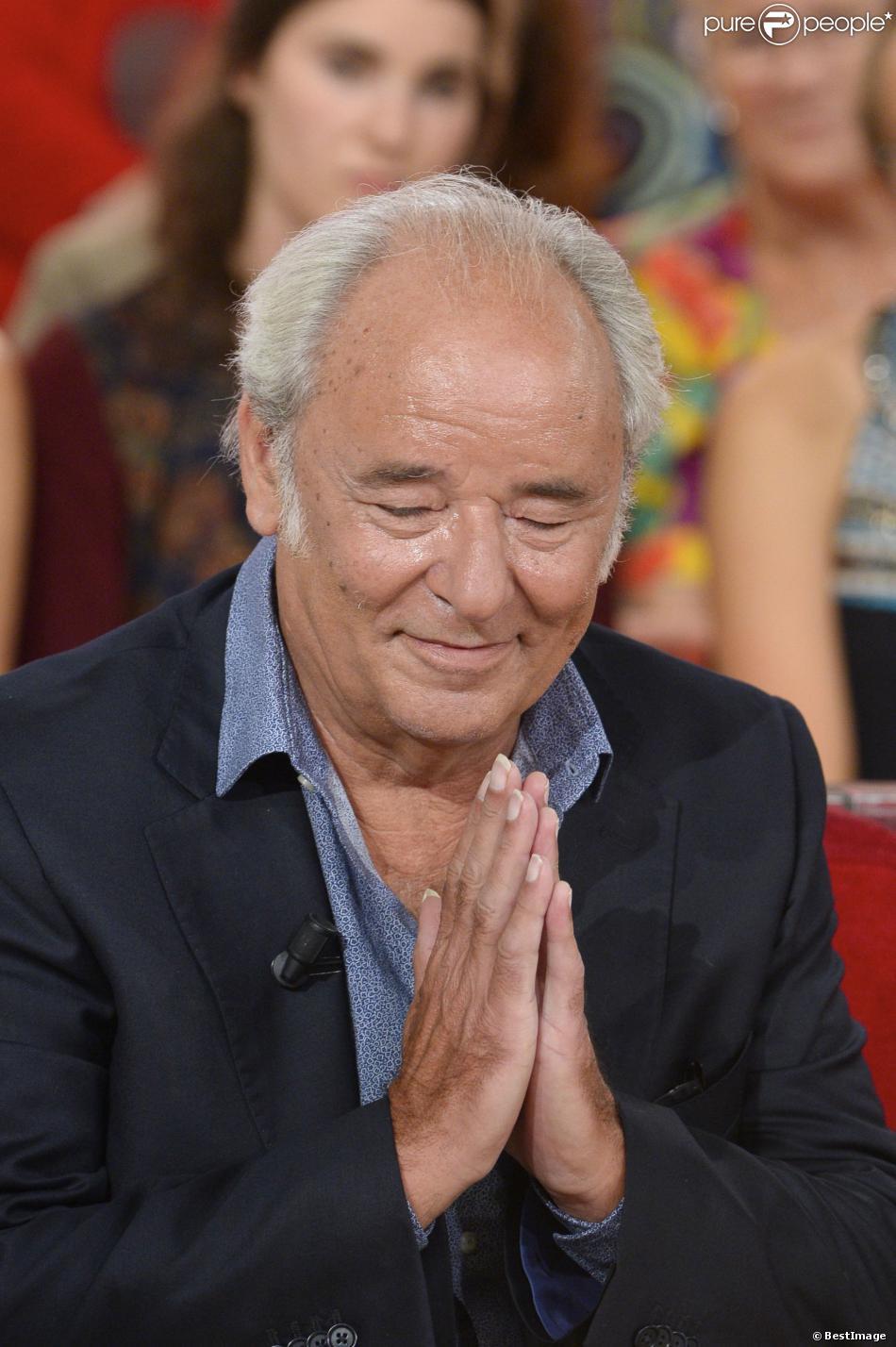 """Maxime Le Forestier - Enregistrement de l'émission """"Vivement Dimanche"""" le 28 août 2013 à Paris."""