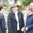 Richard Gotainer lors des obsèques de Gilles Verlant au cimetière du Père-Lachaise, le 4 octobre 2013 à Paris