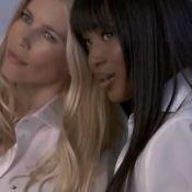 Claudia Schiffer et Naomi Campbell dévoilent leurs gambettes et leur complicité