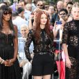 Naomi Campbell, Anne V et Lydia Hearst, les trois mentors de The Face, à New York le 26 septembre 2013.