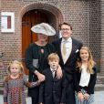 Dutch Prince Constantijn, Princess Laurentien, Countess Eloise, Count Claus-Casimir and Countess Leonore arrive for the wedding of Prince Jaime de Bourbon de Parma in the Church Onze Lieve Vrouwe ten Hemelopneming in Apeldoorn, 5 October 2013. Photo by RPE-Albert Philip van der Werf/DPA/ABACAPRESS.COM05/10/2013 - Apeldoorn