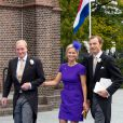 Dutch Prince Carlos de Bourbon de Parme,Princess Caroline de Bourbon de Parme Brenninkmeijer and Albert Brenninkmeijer arrive for the wedding of Prince Jaime de Bourbon de Parma in the Church Onze Lieve Vrouwe ten Hemelopneming in Apeldoorn, 5 October 2013. Photo by RPE-Albert Philip van der Werf/DPA/ABACAPRESS.COM05/10/2013 - Apeldoorn