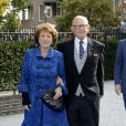 La princesse Margriet et Pieter van Vollenhoven - Mariage de Jaime Bourbon-Parme avec Viktoria Cservenyak a Appeldorn aux Pays-Bas le 5 octobre 2013.  Royal wedding of prince Jaime Bourbon-Parme and Viktoria Cservenyak in Appeldorn, Netherlands, October 05th, 201305/10/2013 - Appeldorn