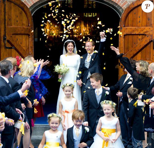 Mariage du prince Jaime de Bourbon-Parme et de Viktoria Cservenyak, le 5 octobre 2013 en l'église Notre-Dame de l'Assomption à Apeldoorn (centre des Pays-Bas).