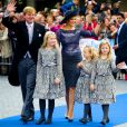 Dutch Queen Maxima and King Willem-Alexander and their children, (L-R) Princess Amalia, Princess Ariane and Princess Alexia, attend the wedding of Prince Jaime de Bourbon de Parme in the Church Onze Lieve Vrouwe ten Hemelopneming in Apeldoorn, Netherlands, October 5, 2013. Photo by Robin Utrecht/ABACAPRESS.COM06/10/2013 - Apeldoorn