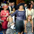 Dutch Queen Maxima and King Willem-Alexander and their children, Princess Amalia, Princess Ariane and Princess Alexia, attend the wedding of Prince Jaime de Bourbon de Parme in the Church Onze Lieve Vrouwe ten Hemelopneming in Apeldoorn, Netherlands, October 5, 2013. Photo by Robin Utrecht/ABACAPRESS.COM06/10/2013 - Apeldoorn